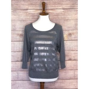 Banana Republic Gray Sequin Sweater